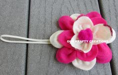 Flower Headband, Felt Headband, Lotus Flower, Baby Headband, Baby Girl Headband, Handmade Headband by OurKraftyCreations on Etsy