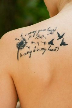quote tattoo 2017on shoulder