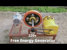 Make Free Energy Generator With Alternator And Motor Flywheel Free Electricity Generator Diy Electronics, Electronics Projects, Tesla Technology, Homemade Generator, Electrical Projects, Power Generator, Energy Projects, Renewable Energy, Save Energy