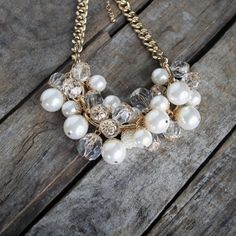 Pearl Cluster Necklace #sizzlingsummerbling @catalogs
