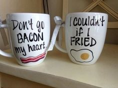"""Funny And Witty """"His And Hers"""" Coffee Mugs From ETSY:"""