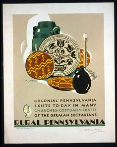 Rural Pennsylvania: Colonial Pennsylvania exists to-day in many churches, costumes, crafts of the German Sectarians - Katherine Milhous, artist. 1940