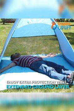 The sleek, portable Automatic Easy Pop-Up UV Tent creates cooling shade and offers a bit of privacy, while maintaining a spectacular view of the great outdoors. Camping Survival, Tent Camping, Camping Gear, Camping Hacks, Camping Gadgets, Camping Checklist, Beach Camping, Camping Essentials, Camping Life