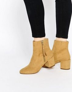 ASOS RAIN CHECK Tassel Ankle Boots