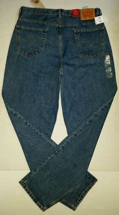 82df0e2453f Levi s 560 Relaxed Fit Tapered Leg Blue Denim Jeans Men Size 36 x 36 Red Tab