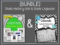 This is a {BUNDLE} of the following two products:Colorado State History Unit…