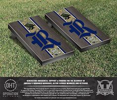Operation Hat Trick Rice Owls Cornhole Game Set Onyx Stained Stripe Version *** You can get additional details at the image link.