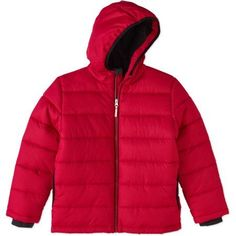 Faded Glory Boys' Bubble Jacket, Size: 10/12, Red