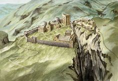 Reconstruction drawing  Peveril Castle is one of England's earliest Norman fortresses. The keep was built by Henry II in 1176.