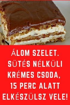 Hungarian Desserts, Hungarian Recipes, Super Healthy Recipes, Sweet Recipes, No Bake Desserts, Dessert Recipes, Sandwich Bar, Winter Food, Quick Easy Meals