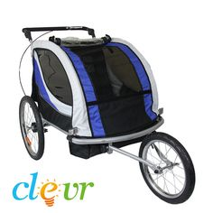 Premium Child Bicycle Trailer Baby Bike Kid Jogger Blue Running Carrier
