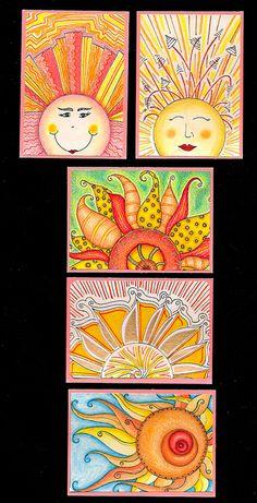 Sunshine Warm Color Lesson