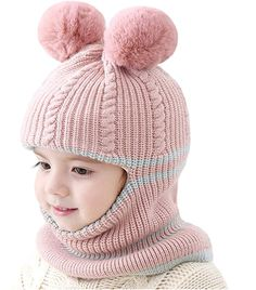 Fedi Apparel Baby Infant Cotton Cute Hat Boy Girl Knitted Hat Warm Winter Caps