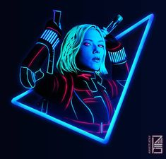 "7,423 Likes, 163 Comments - Aniket Jatav (@aniketjatav) on Instagram: ""47/365 : NEON AVENGERS Artwork : 12 - Black Widow a.k.a. Natasha Romanoff. Don't forget to get…"""