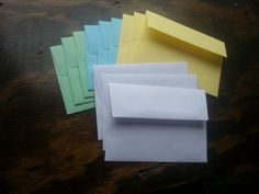 50, 100 or  200 Quality A-7, A-6, A-2, Announcement & Invitation card envelopes.