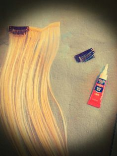"""DIY sew in clip Extentions....Dont dread on having to Sew in your clips on extentions..its cheaper to sew them in yourself instead of buying them already done...Cant sew...who cares...Dont have time...thats fine.....Thats why they made SuperGlue!!!!.....Genius i am.. i know!!...i buy LocTiTE superglue..$1.79 for 2.  Cut your strands of extentions to ur length of choice glue 2-3 clips on the track. BAM...it takes 10 minutes and your ready to wear em all   :) Your Welcome. -""""Random THINGS"""" by…"""