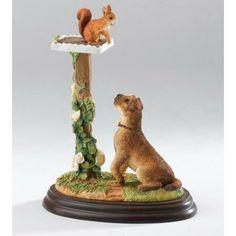 Border Fine Arts - Border Terrier - Red Alert Figurine | Border Terrier Collection | Crusader Gifts