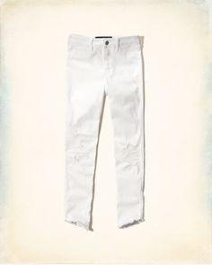 Hollister High Rise Crop Jeans