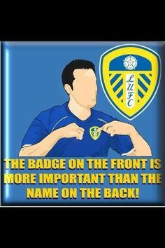LUFC badge on the front