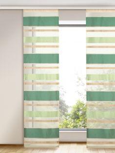 Freundlich einladend, angenehm eleganter Flächenvorhang. Gardinen-Outlet.com