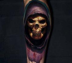 Skeletor tattoo by Alexander Kolbasov