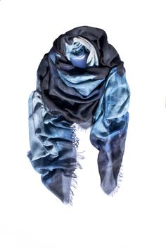 photography meets luxury accessory - ice blue colored *CAVE* as a digital print on finest modal - cashmere - WE it! Cave, Digital Prints, Cashmere, Luxury, Photography, Color, Fashion, Colour, Cashmere Wool