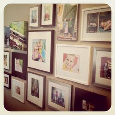 You can mix and match your photo frames; image treatment--such as black and white or color and framed photo along with canvas.  It makes for a lovely and interesting growing family wall gallery.  This family must love it.  I do!