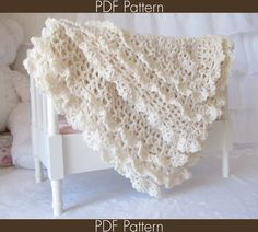 PDF PATTERN instructions to make the Victorian Baby Blanket. NOT A PHYSICAL BLANKET FOR SALE. ♥ Crochet baby blanket pattern for the beautiful Victorian Series baby blanket with double lace edging. It will be a hit as a baby shower gift for new moms, or an heirloom within the