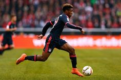 Kingsley Coman of Bayern Muenchen in action during the Bundesliga match between 1. FC Koeln and FC Bayern Muenchen held at RheinEnergieStadion on March 19, 2016 in Cologne, Germany.