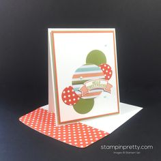 Thoughtful Banners & Layering Circles Framelits Dies friend card created by Mary Fish, Stampin' Up! Demonstrator.  1000+ StampinUp & SUO card ideas.  Read more http://stampinpretty.com/2016/07/perfect-circles-for-a-sweet-friend-card.html