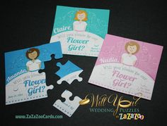 Will you be my flower girl?  puzzle...so cute!