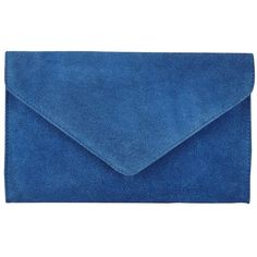 East Suede Envelope Clutch Bag, Cobalt Blue ($64) ❤ liked on Polyvore featuring bags, handbags, clutches, blue envelope clutch, blue purse, summer purses, blue clutches and blue suede handbag