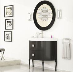 Mueble de baño moderno Dalí negro brillo