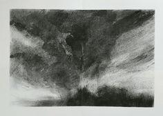 Hannah Ivory Baker. Charcoal sketch.