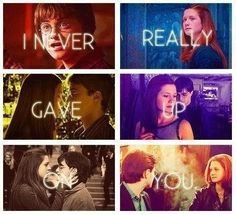 Harry potter and Ginny awww!!
