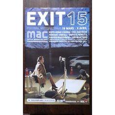 Exit 15 Mac - Petite affiche originale récupérée en vitrine. Légères marques d'usage. Possibles pointes de scotch coupées net. Classer sous : Affiche, Paris, 2014, Maison Des Arts De Créteil, Festival International, Expo, Home Cinema