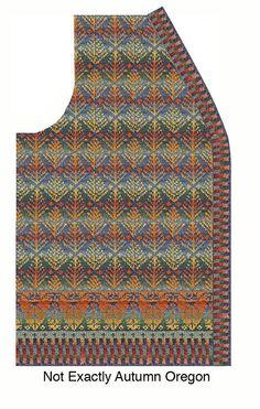 Ravelry: patknitter's My Oregon Autumn Cardigan Knitting Machine Patterns, Knitting Charts, Hand Knitting, Tapestry Crochet, Knit Crochet, Fair Isle Chart, Intarsia Patterns, Knit Vest Pattern, Textiles