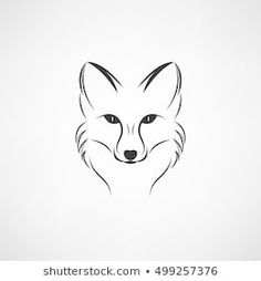 Vector image of a fox design on a white background Vector Il.- Vector image of a fox design on a white background Vector Illustration Vector image of a fox design on a white background Vector Illustration - Fuchs Silhouette, Fox Silhouette, Silhouette Tattoos, Animal Sketches, Animal Drawings, Art Drawings, Fox Tattoo Design, Fox Design, Tattoo Sketches