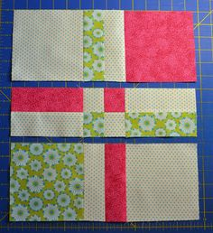 Chock-A-Block Quilt Blocks: Disappearing 4-Patch