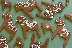Dala horse cookies