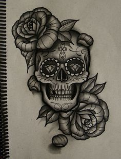 20 Amazing Tattoo sketches that will blow your mind | Antsmagazine.com Really like the roses