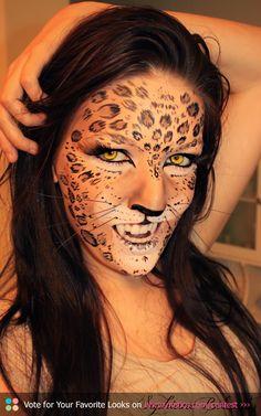 Classic leopard print makeup & catty eyeliner! Video tutorial ...