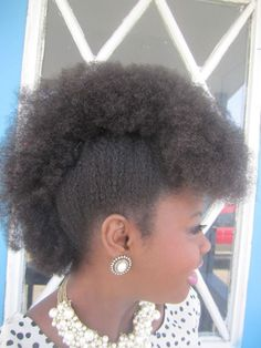 Fun, Fancy & Simple Natural Hair Mohawk Hairstyles