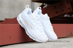 9018937d658 Nike Air Max 98 Series Air Zoom Jogging Shoes Triple White SKU 640744-106  Copuon