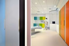 Colorful healthcare interior design
