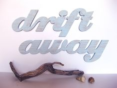 Drift Away word sign wood sign beach cottage  boat by seasawsign, $53.00
