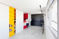 interesting 27m2 studio (still needs sofa & small table but very cool!!)