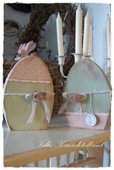 romantisches Osterei von Villa Kruschtelbunt auf DaWanda.com Spring Projects, Easter Projects, Cool Diy Projects, Spring Crafts, Easter Crafts, Holiday Crafts, Wood Crafts, Diy And Crafts, Decor Crafts