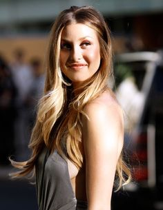 whitney port. ombre hair.