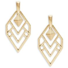 Design Lab Lord & Taylor Geometrical Drop Earrings ($18) ❤ liked on Polyvore featuring jewelry, earrings, gold, yellow gold jewelry, gold jewellery, gold tone earrings, gold tone jewelry and gold jewelry